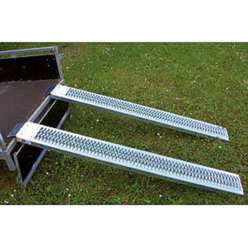 2 rampes tôle galvanisée 1.92 x 0.225 x 0.45 m